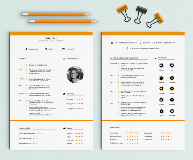 Provide You A Winner And Creative Curriculum Vitae By Franciscacs