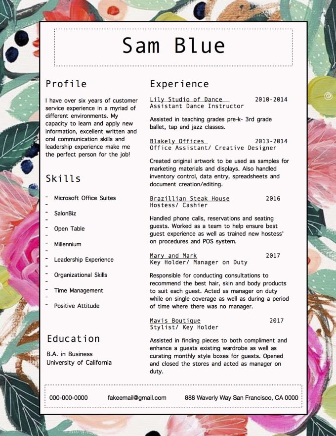 design, write and edit a custom resume and cover letter