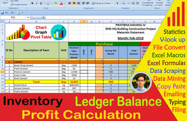 do stock inventory statistics web research data extraction excel