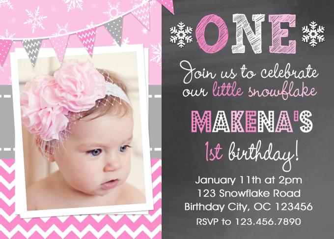Girl birthday party invitation — 7