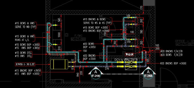 hvac,plumbing,fire fighting,electrical,mep service design and shop drawings