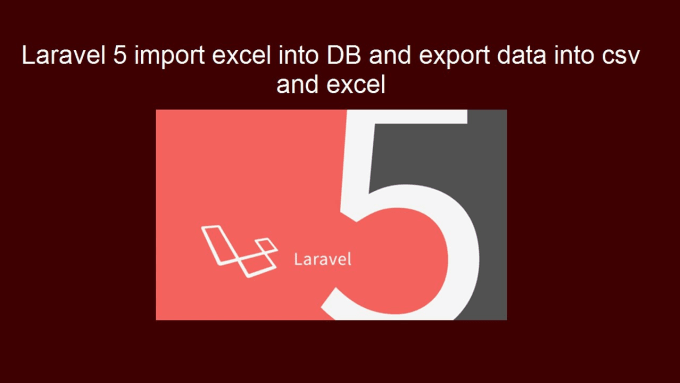 export import to excel or csv using laravel framework