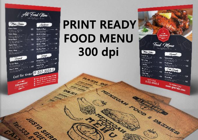 design restaurant menu food menu flyer menu by cdmode65