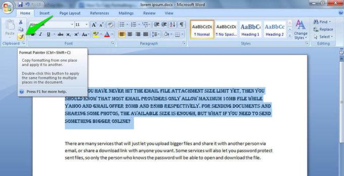 Do Word Document Format By Zuneramaqbool