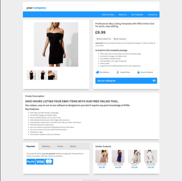 creating an ebay template choice image template design free download