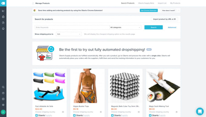 add top selling oberlo dropship products to your shopify