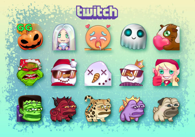 create high quality custom twitch emotes,badges for you
