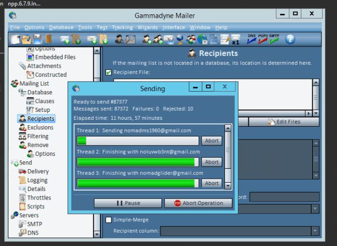 setup SMTP server and gammadyne mailer for email marketing