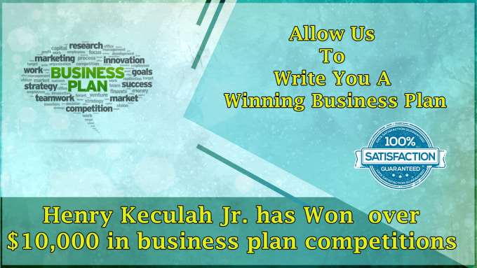 write a winning business plan for you