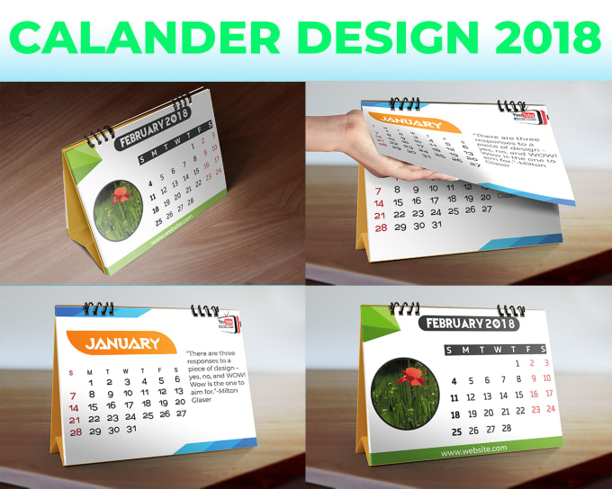 do creative calendar design within 6 hours by alvial