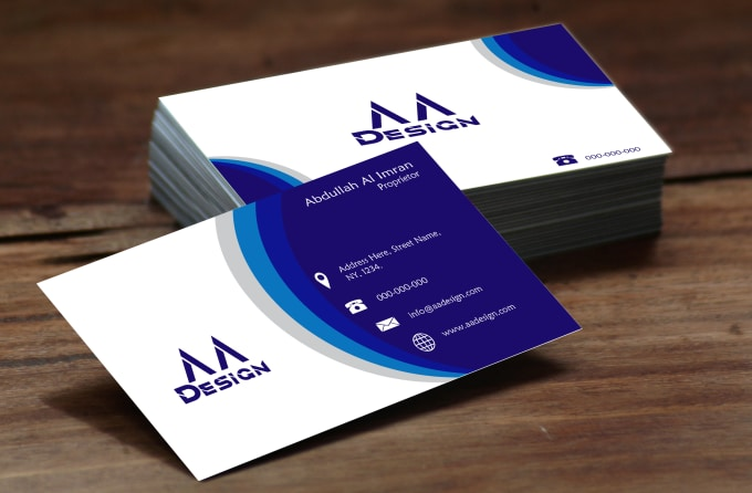 design best visiting card for you in 24 hours for you by abdullahalimran