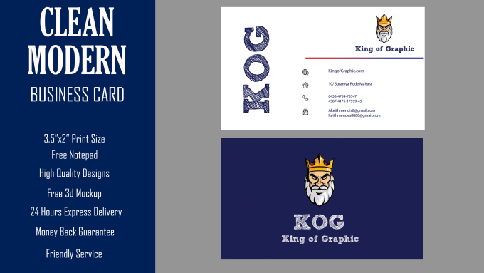 Design 2 clean business card within 24 hrs by kingofgraphic88 design 2 clean business card within 24 hrs reheart Choice Image