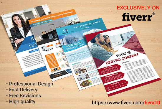 design professional business corporate flyer or brochure by hera10