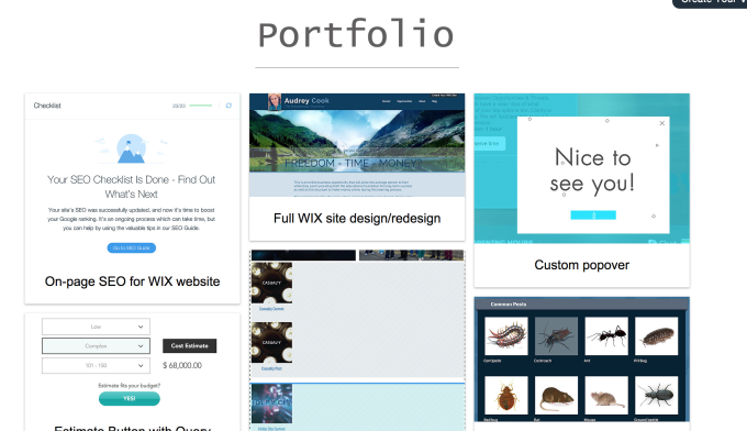 create dynamic pages on wix site