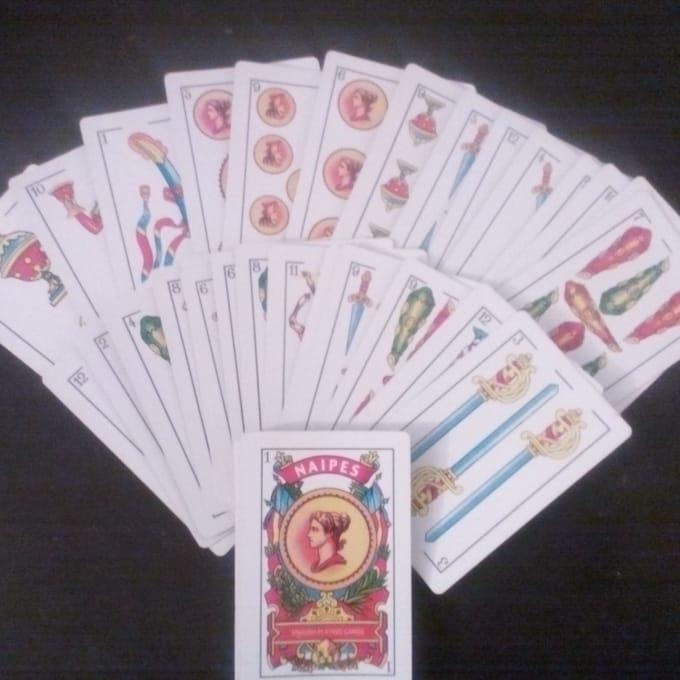 tarot reading, spanish deck