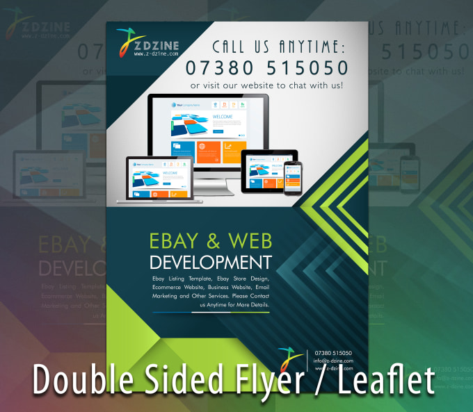 design a double sided flyer leaflet brochure by rabiah358