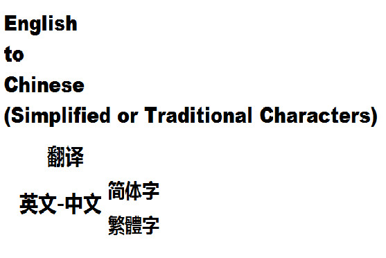 do translation in english,simplified and traditional chinese