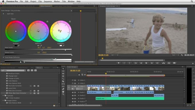 do professional video editing on adobe premiere pro and after effects