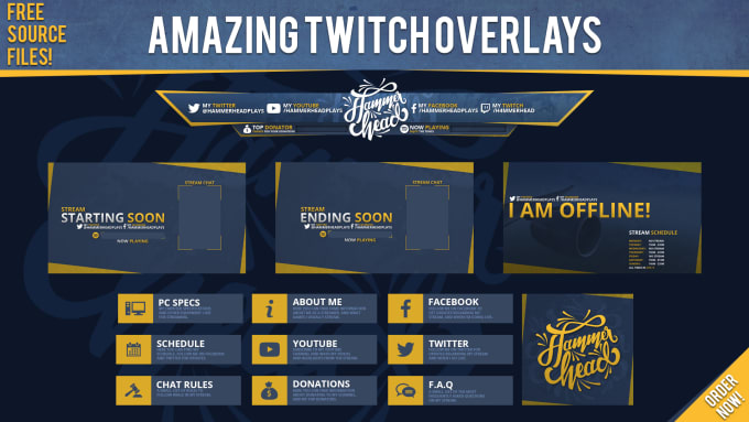 design an amazing twitch overlay for your stream