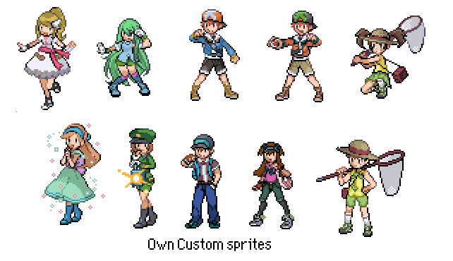 make pokemon bw trainer sprites