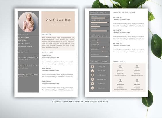 design your cv document plus a free cover letter template
