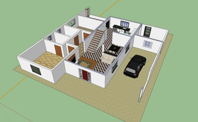 Yaslove62 I Will Create 3d Floor Plan Exterior And Interior Model Sketchup For 5 On Www Fiverr Com