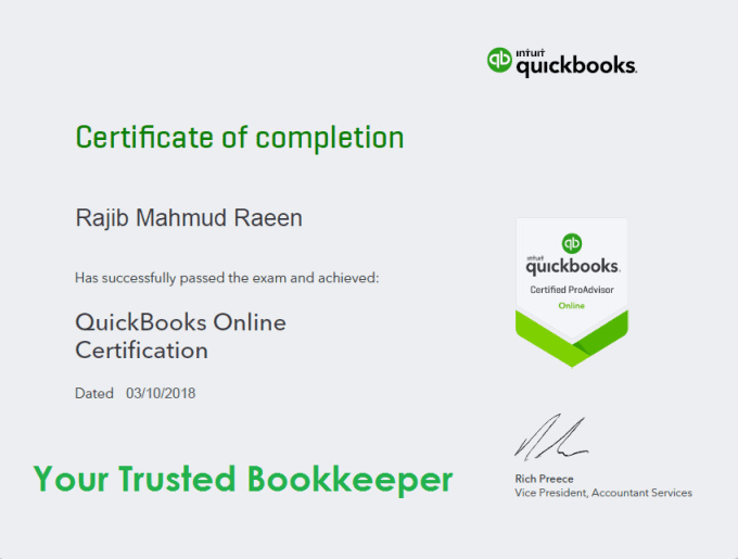 quickbooks online bookkeeping bank reconciliation