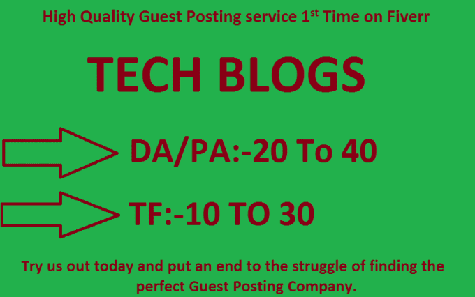 do Guest Post On My Quality Tech Blogs