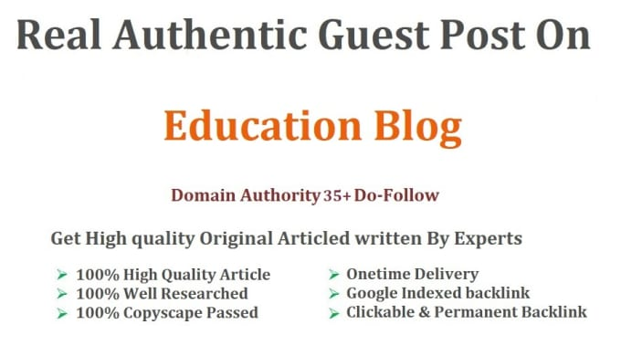 Write and guest post on da35 education blog by Eximiusresrch