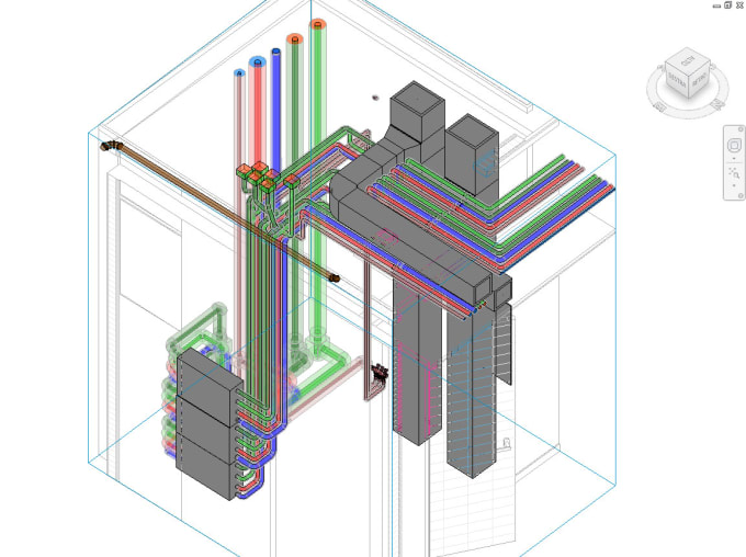 do piping, fire protection and hvac in revit mep
