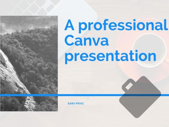 Do A Professional Canva Presentation