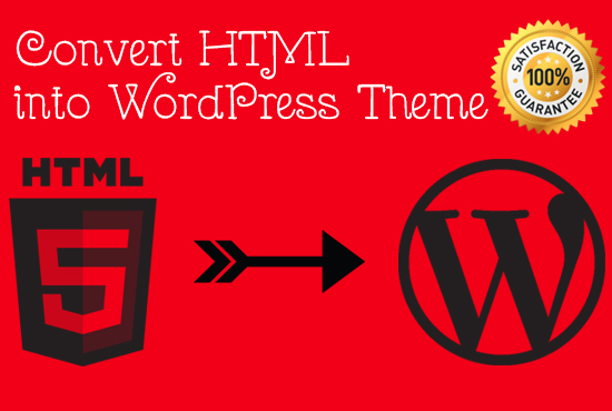 Convert html template to wordpress theme and make website by Sakib_mec