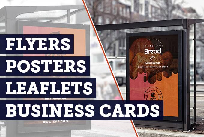 Design professional business card flyer leaflet or poster by design professional business card flyer leaflet or poster reheart Gallery