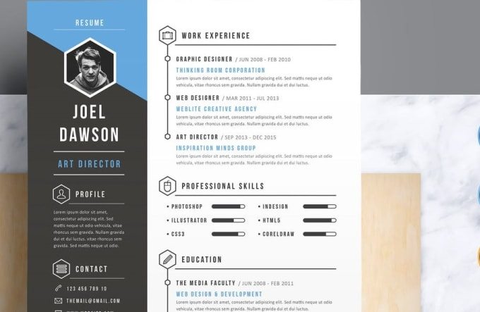 Infographic Resume | Design An Infographic Resume Cv In 24 Hrs