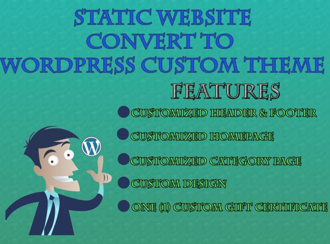 Create custom dynamic wordpress theme by Sajidhunxai