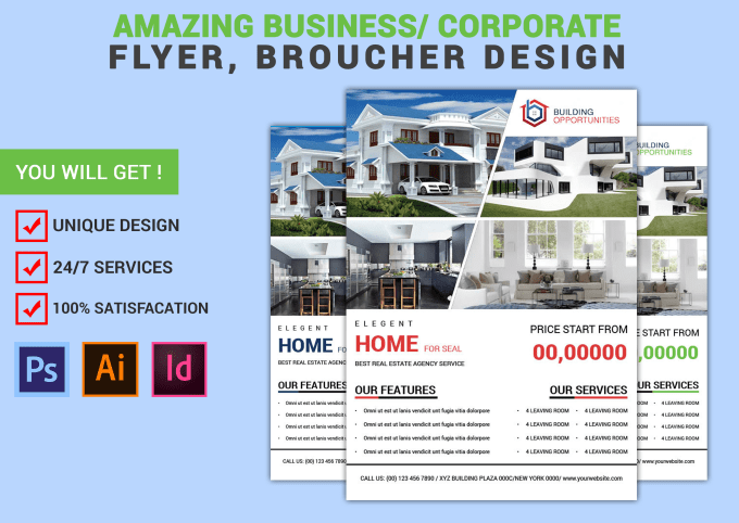 create professional real estate flyer broucher design by fatema963