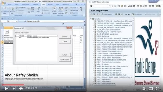 Excel Sap Link