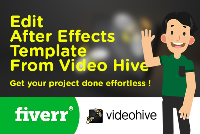 edit any videohive after effects template