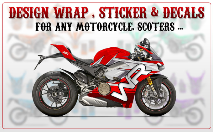 design a wrap decal sticker frame for bicycle and motorcycle