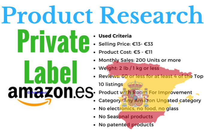 make you amazon fba spain private label product research