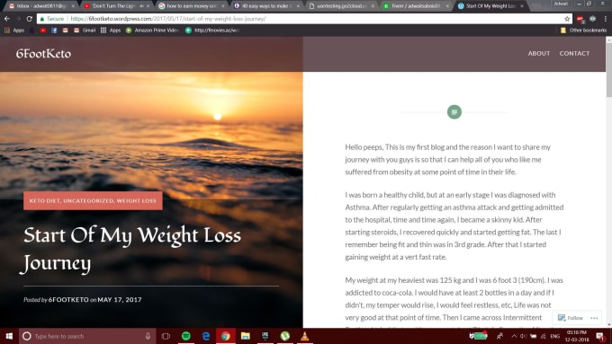 write sports and fitness articles