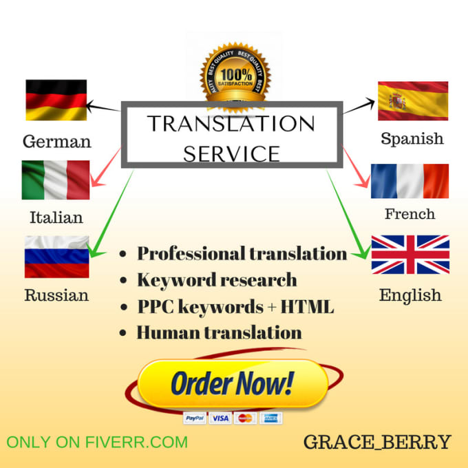 English To Italian Translation: Translate German French English Italian And Spanish By