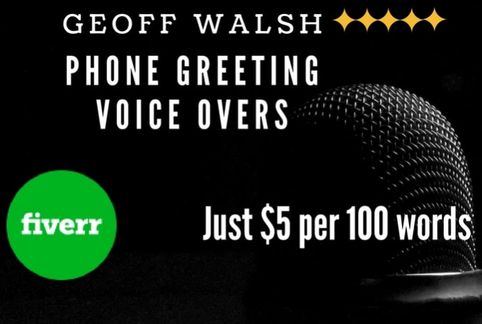 Record a professional voicemail greeting or phone message by geoffwalsh record a professional voicemail greeting or phone message m4hsunfo