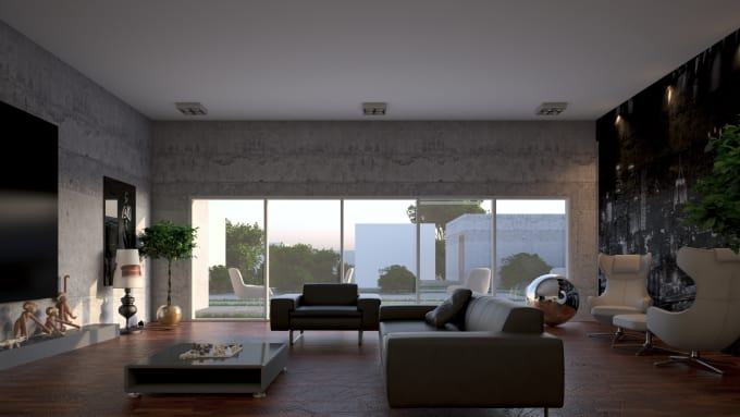 do interior design,3d rendering by 3dsmax and sketchup