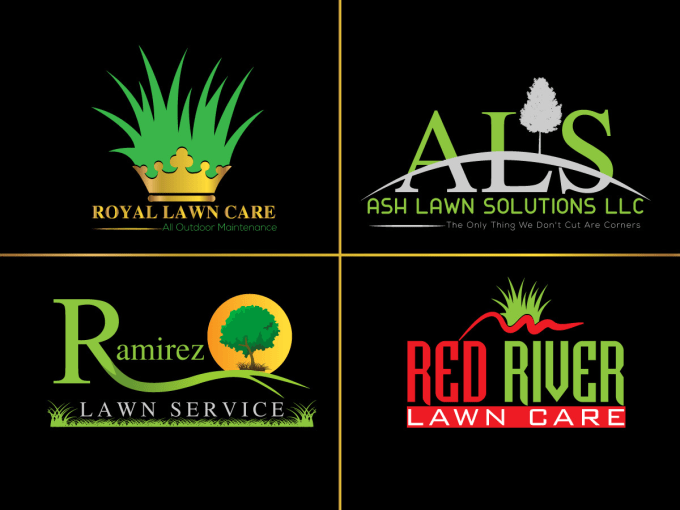 design lawn care logo with all files by ruban khan