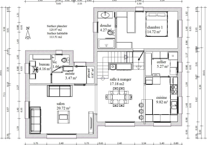Draw floor plan in archicad by Smixou