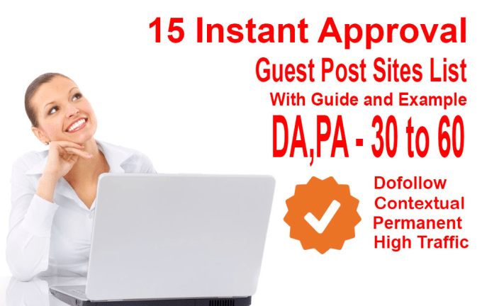 provide 15 instant guest post sites list rank higher now