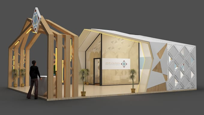 Exhibition Stand 3d Model : Create 3d exhibition stand booth kiosk designs by farzadaqabbas