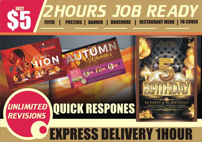 create flyer design poster and any graphic work in 4 hrs by magicangel