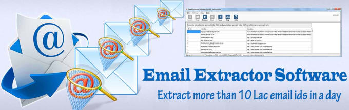 give you emails extracting software which works online
